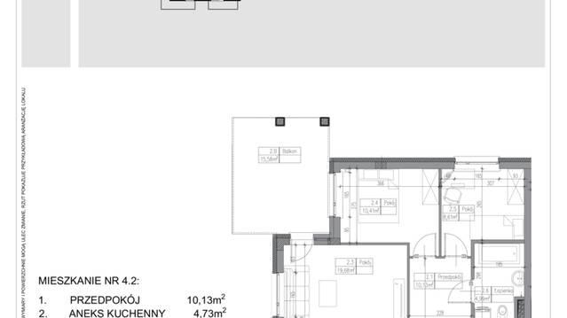 Mieszkanie W Rezydencja Ząbki 3 Pokoje 586 M2 1 Piętro