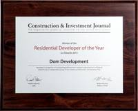 Residential Developer of the Year 2015